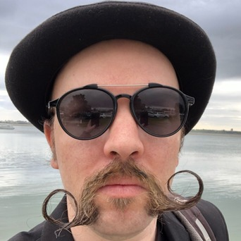 Daryl Milne SwipedOn cloud developer moustache