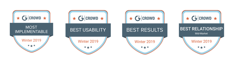 G2 Crowd badges