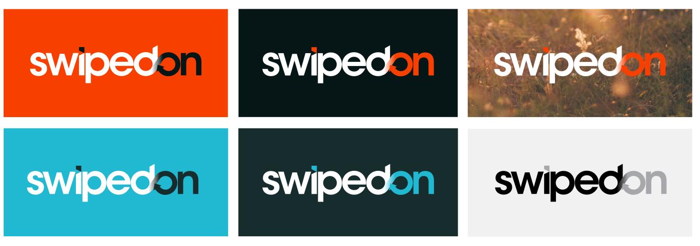 SwipedOn logo versions