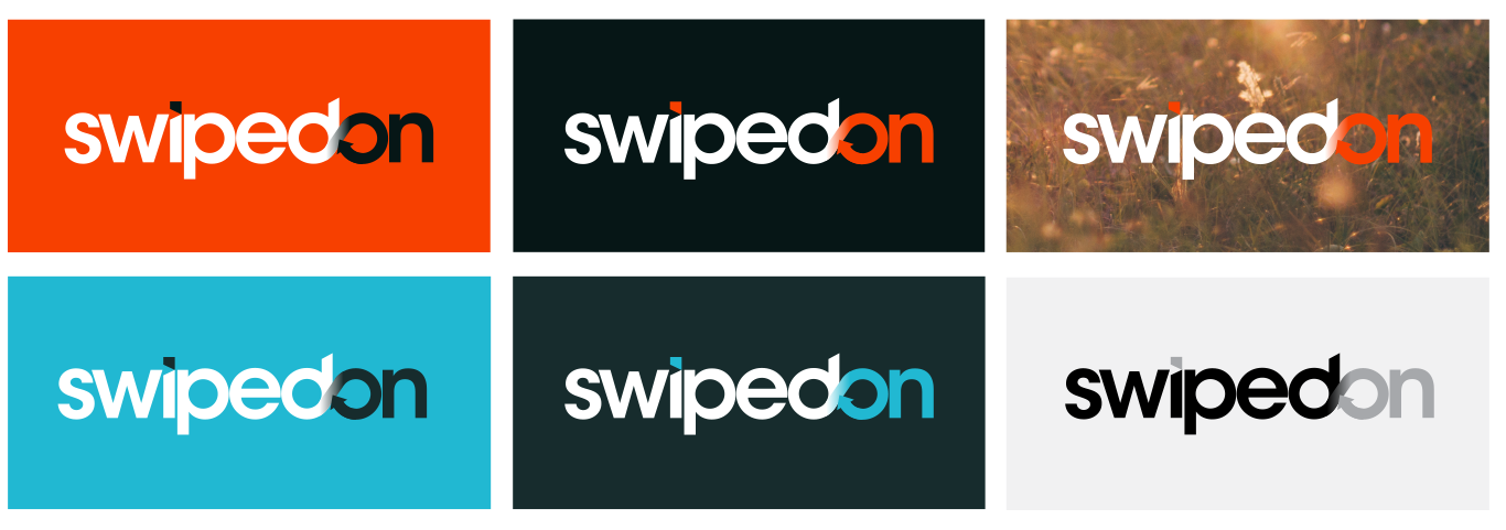 SwipedOn logo versions