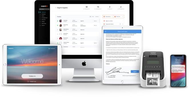 SwipedOn app family of devices