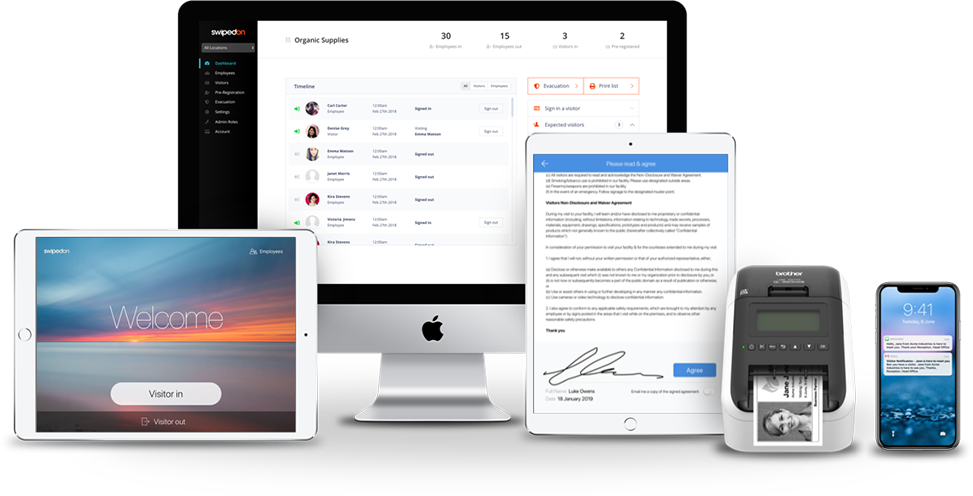 SwipedOn complete visitor management system