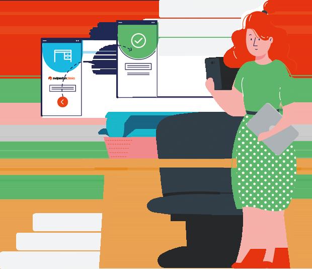 swipedon desks booking illustration
